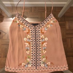 French Connection Floral Embroidered Top